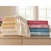 2 pack  250 thread count floral   solid sheet set