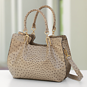 sondra roberts ostrich satchel