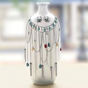 southwest chain necklace hoop earring set