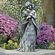 love grows here garden angel