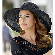 Woven Brim Floppy Hat