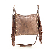 sondra roberts fringe python cross body bag