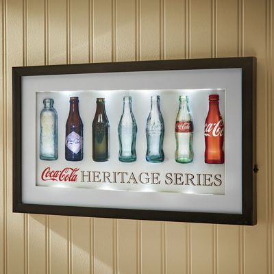 Coca-Cola Bottles Lighted 3-D Wall Sign