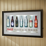 coca cola bottles lighted 3 d wall sign