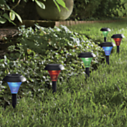 set of 6 color changing solar path lights