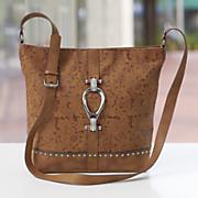 Floral Embossed Hobo Bag