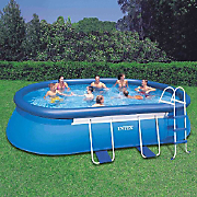 oval frame pool by intex