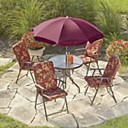6 pc  floral patio set