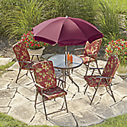 6-Piece Floral Patio Set