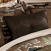 great outdoors button accent pillow