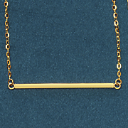 14k gold square bar necklace