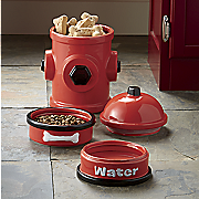 4 pc  fire hydrant jar and bowl set