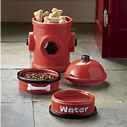 4-Piece Fire Hydrant Jar and Bowl Set