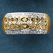 10k gold diamond filigree band