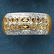 10k gold diamond filigree band
