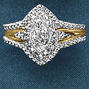 10k gold diamond marquise ring
