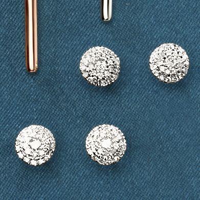 10K Gold Diamond Round Cluster Post Earrings