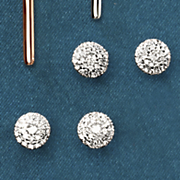 10k gold diamond round cluster post earrings