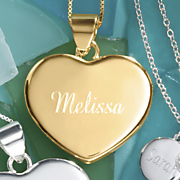 personalized name heart pendant