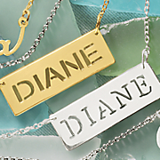 personalized name cutout pendant