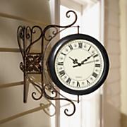 hanging outdoor clock