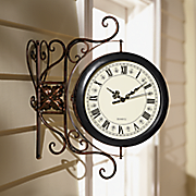 hanging outdoor clock