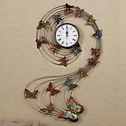 butterfly swirl clock