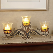 auburn trio candle stand
