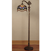 Stained Glass Teardrop Floor Lamp