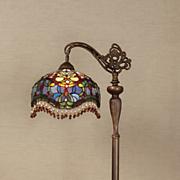 stained glass teardrop floor lamp