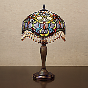 stained glass teardrop table lamp