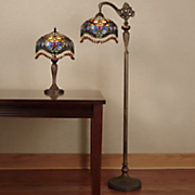 Stained Glass Teardrop Floor and Table Lamps