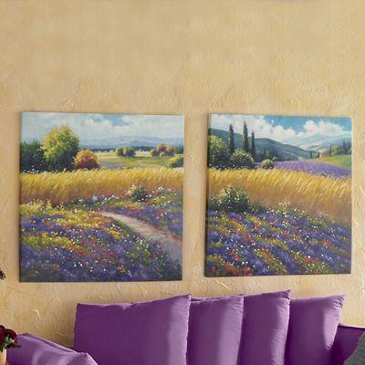 Set of 2 Lavender Fields Wall Art