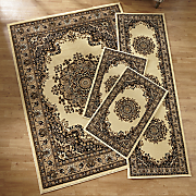 Floral Kirman 4-Piece Rug Set
