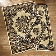 floral kirman 4 pc  rug set