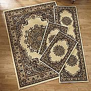 floral kirman 4 pc  rug set