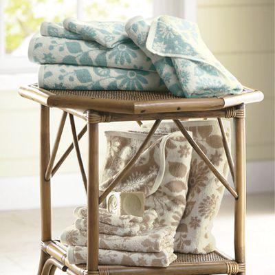 6-Piece Flora Jacquard-Patterned Towel Set