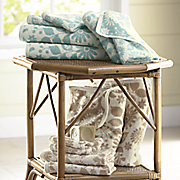 6 pc  flora jacquard patterned towel set