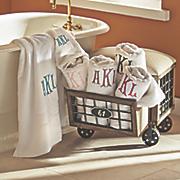 monogrammed hand or bath towel