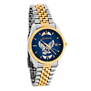 men s black hills gold blue face watch