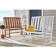 solid wood double rocker