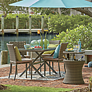 5-Piece Aluminum Wicker Dining Set