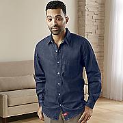 classic denim long sleeve shirt by dickies