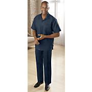 classic linen blend pant set by silversilk