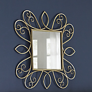 Gold Scroll Mirror