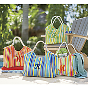 personalized striped tote 44