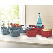 Set of 3 Mode Crochet Baskets