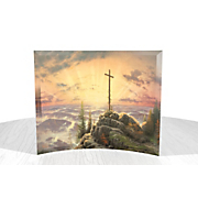 Thomas Kinkade Sunrise Curved Glass Print