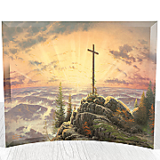 thomas kinkade sunrise curved glass print