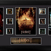 The Hobbit Bilbo's Journey Trilogy Framed Film Cell Montage